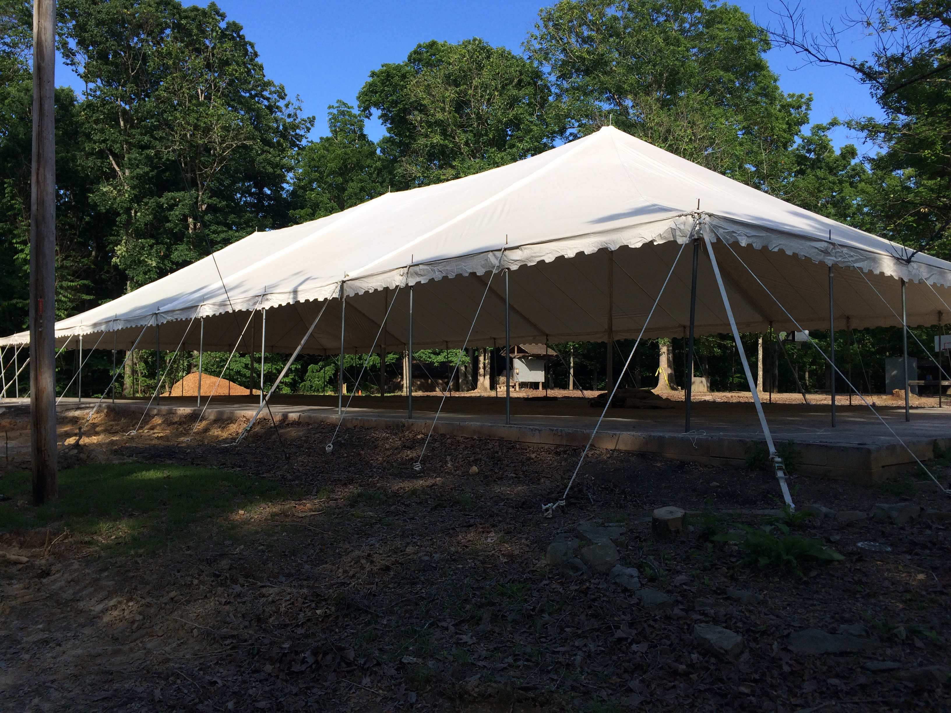 The Big Tent is Up! | Camp Leatherwood